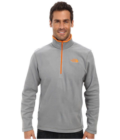 The North Face - TKA 100 Glacier 1/4 Zip (Sedona Sage Grey) Men's Long Sleeve Pullover