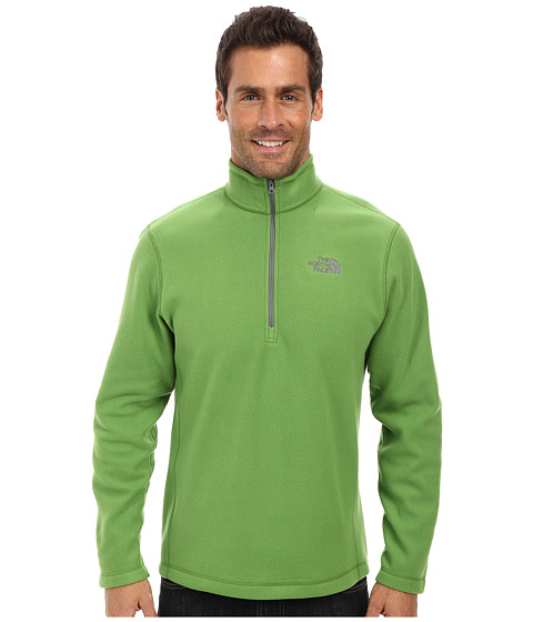 The North Face - TKA 100 Glacier 1/4 Zip (Adder Green) Men's Long Sleeve Pullover