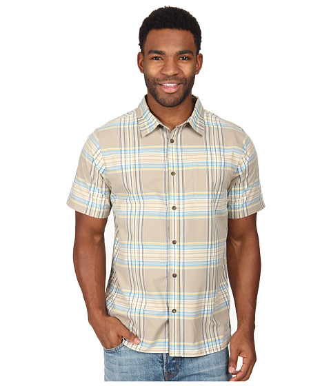 The North Face - Short Sleeve Pacific Coast Shirt (Dune Beige) Men's Short Sleeve Button Up