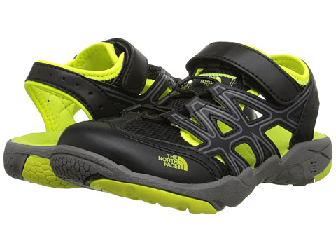 The North Face Kids - Hedgehog Sandal (Toddler/Little Kid/Big Kid) (TNF Black/Dayglo Yellow) Boys Shoes