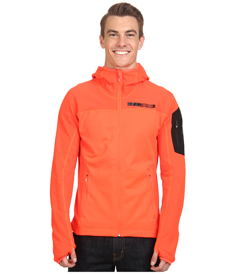 adidas Outdoor - Terrex Stockhorn Fleece Hoodie (Solar Red) Men's Coat