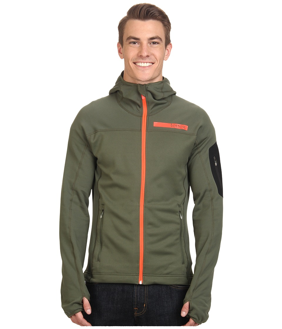 adidas Outdoor - Terrex Stockhorn Fleece Hoodie (Base Green) Men's Coat