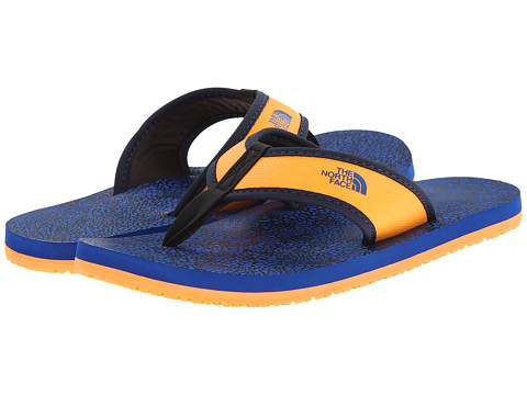 The North Face Kids - Base Camp Flip-Flop (Toddler/Little Kid/Big Kid) (Cosmic Blue/Vitamin C Orange) Boys Shoes