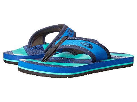 The North Face Kids - Base Camp Flip-Flop (Toddler/Little Kid/Big Kid) (Snorkel Blue/Billiard Green) Boys Shoes