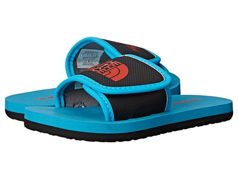 The North Face Kids - Base Camp Slide (Toddler/Little Kid/Big Kid) (Meridian Blue/Valencia Orange) Boys Shoes