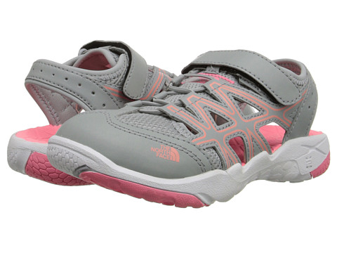 The North Face Kids - Hedgehog Sandal (Toddler/Little Kid/Big Kid) (High Raise Grey/Sugary Pink) Girls Shoes