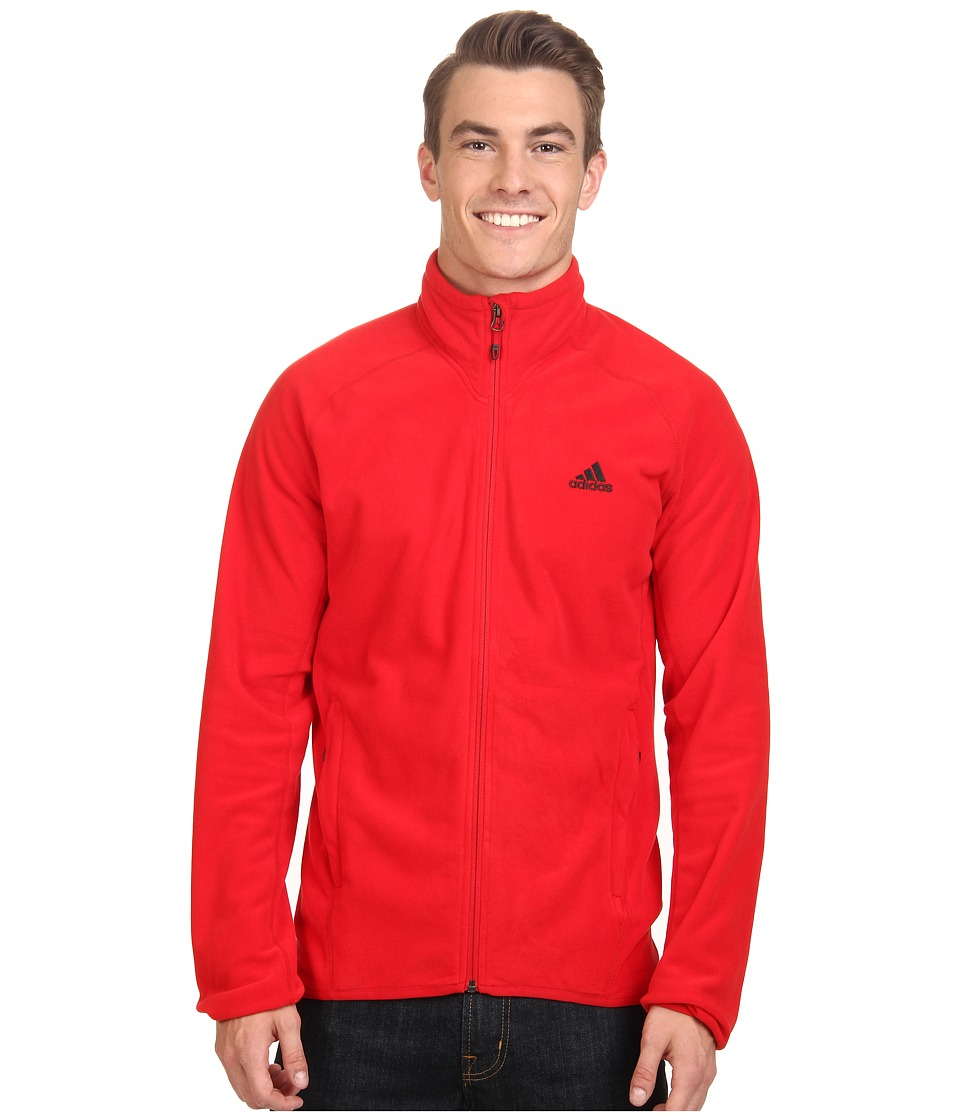 adidas Outdoor - Hiking Fleece Jacket (Scarlet) Men's Coat