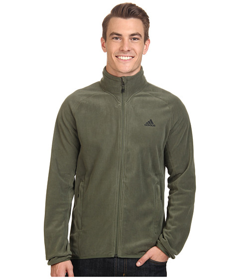 adidas Outdoor - Hiking Fleece Jacket (Base Green) Men's Coat
