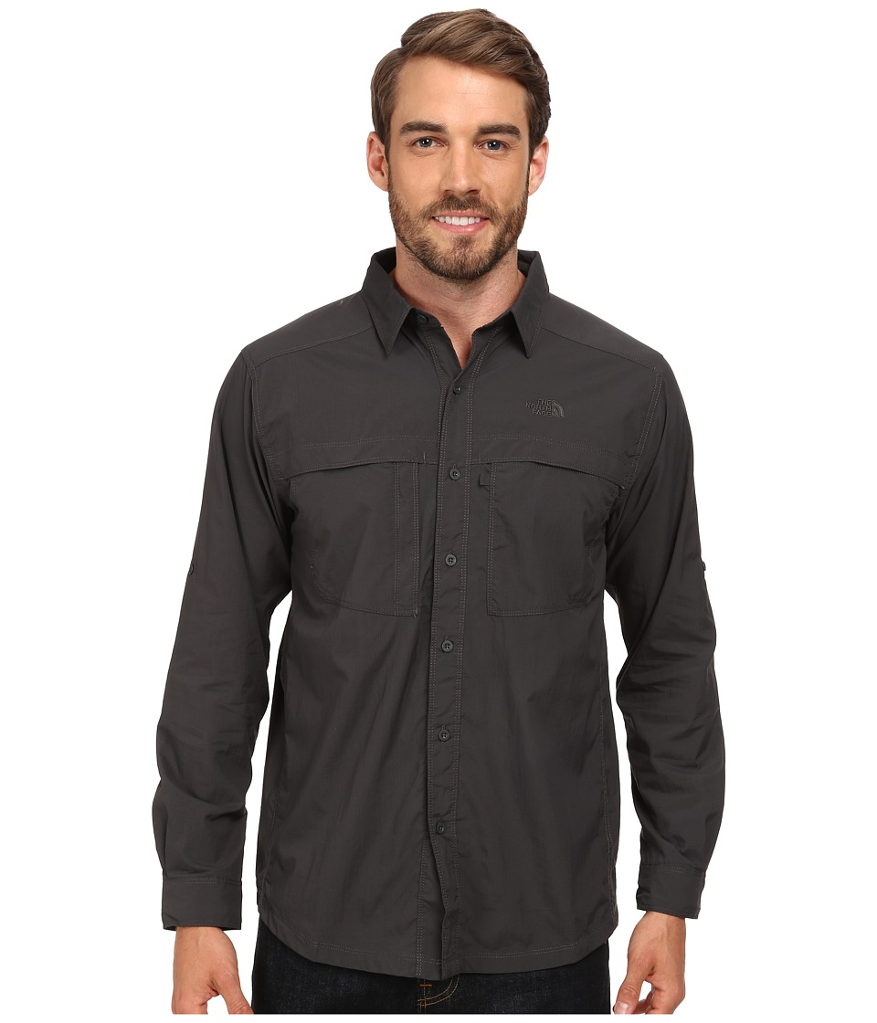 The North Face - Long Sleeve Cool Horizon Shirt (Asphalt Grey) Men's Long Sleeve Button Up