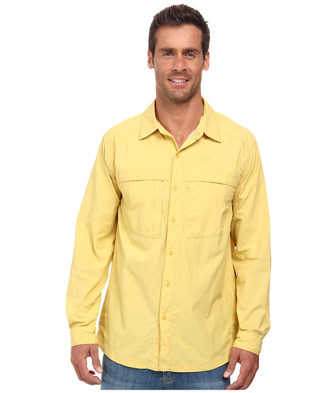 The North Face - Long Sleeve Cool Horizon Shirt (Misted Yellow) Men's Long Sleeve Button Up