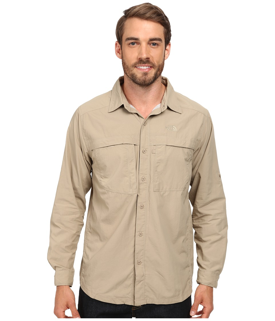 The North Face - Long Sleeve Cool Horizon Shirt (Dune Beige) Men's Long Sleeve Button Up