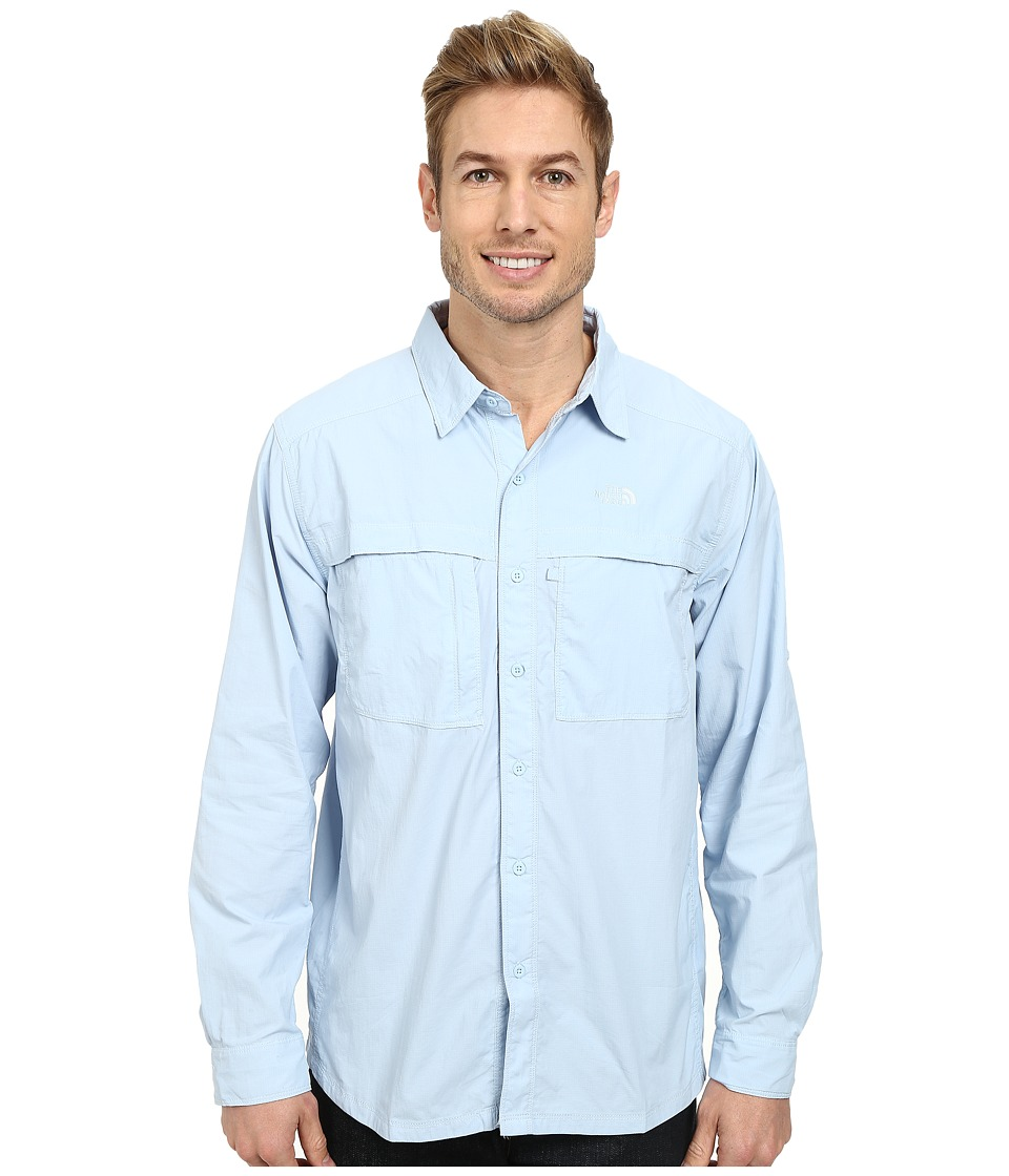 The North Face - Long Sleeve Cool Horizon Shirt (Tofino Blue) Men's Long Sleeve Button Up
