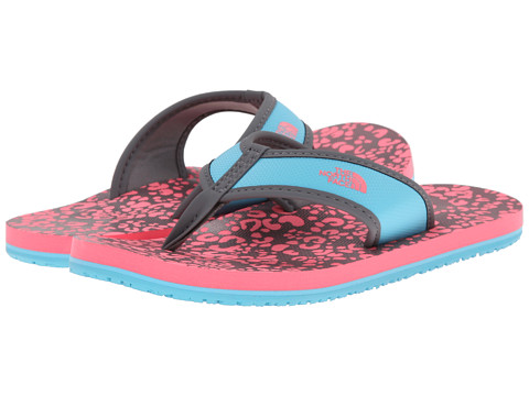 The North Face Kids - Base Camp Flip-Flop (Toddler/Little Kid/Big Kid) (Sugary Pink/Fortuna Blue) Girls Shoes
