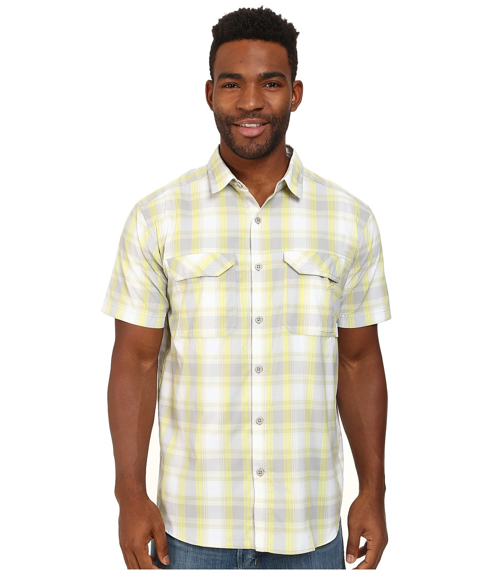 Columbia - Royce Peak II Plaid S/S Shirt (Columbia Grey) Men's Short Sleeve Button Up