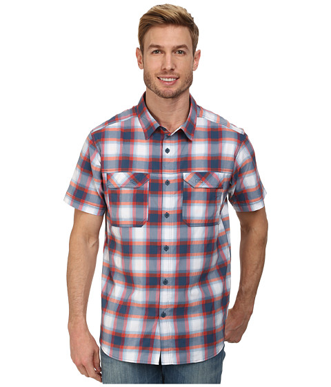Columbia - Royce Peak II Plaid S/S Shirt (Whale) Men's Short Sleeve Button Up