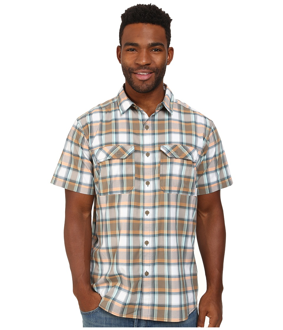 Columbia - Royce Peak II Plaid S/S Shirt (Wet Sand) Men's Short Sleeve Button Up