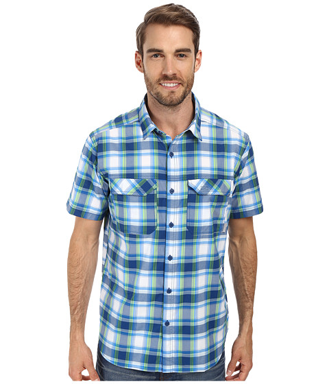 Columbia - Royce Peak II Plaid S/S Shirt (Marine Blue) Men