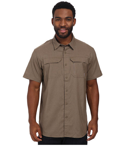 Columbia - Royce Peak II S/S Shirt (Wet Sand) Men's Short Sleeve Button Up