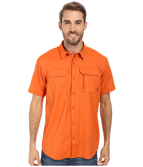 Columbia - Royce Peak II S/S Shirt (Backcountry Orange) Men's Short Sleeve Button Up