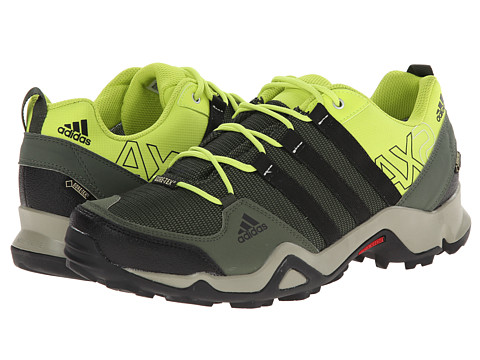 adidas Outdoor - AX 2 GTX (Base Green/Black/Semi Solar Yellow) Men's Shoes