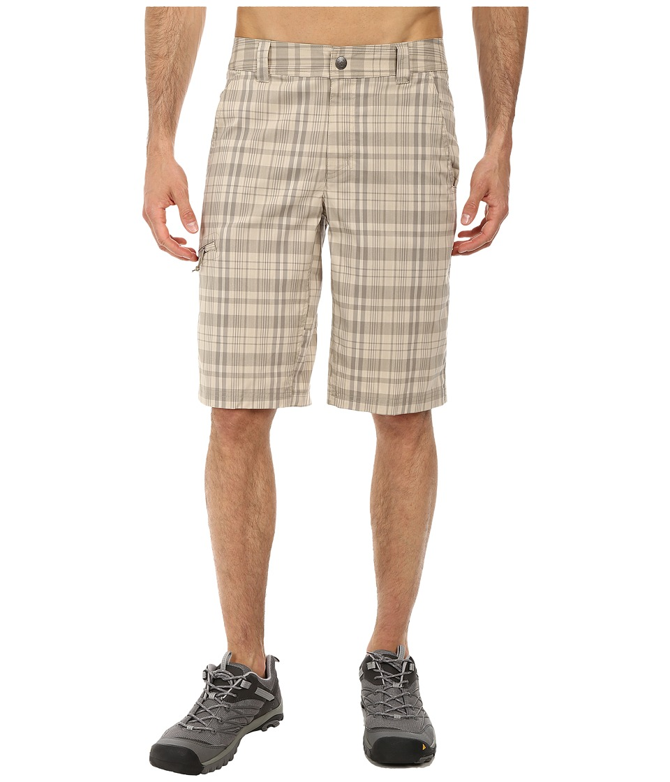 Columbia - Cool Creek Stretch Plaid Short (Tusk/Kettle Plaid) Men