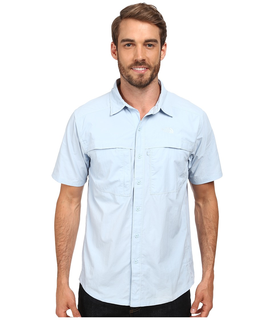 The North Face - Short Sleeve Cool Horizon Shirt (Tofino Blue) Men's Short Sleeve Button Up