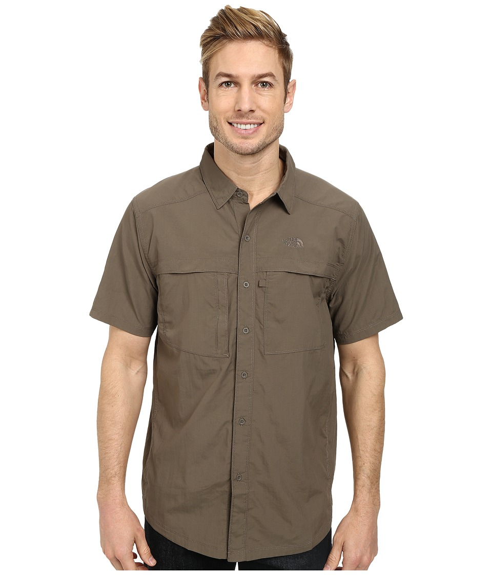 The North Face - Short Sleeve Cool Horizon Shirt (Weimaraner Brown) Men's Short Sleeve Button Up