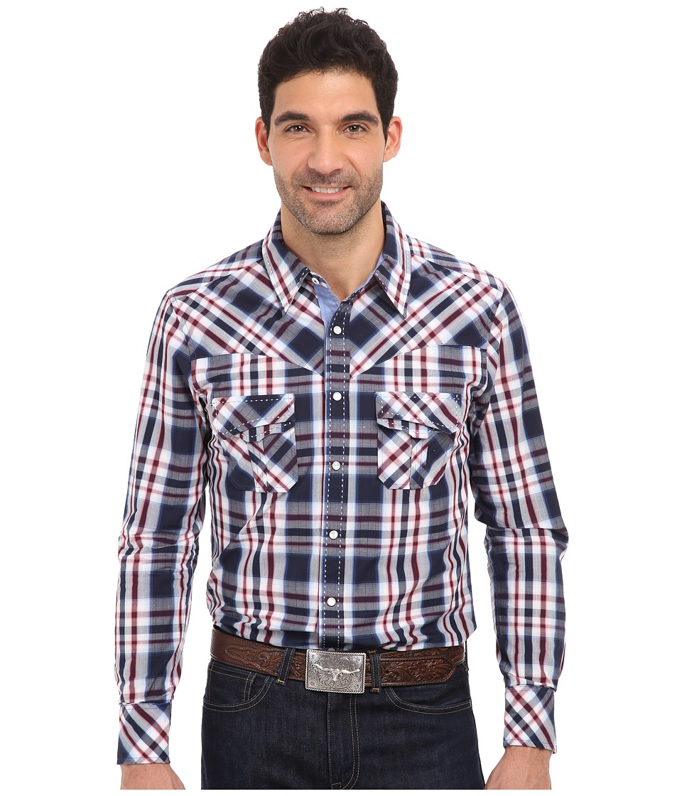 Rock and Roll Cowboy - L/S Snap (Denim Blue) Men's Long Sleeve Button Up
