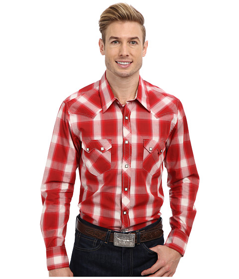 Rock and Roll Cowboy - L/S Snap (Red) Men's Long Sleeve Button Up