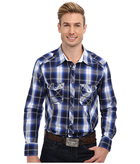 Rock and Roll Cowboy - L/S Snap (Royal) Men's Long Sleeve Button Up