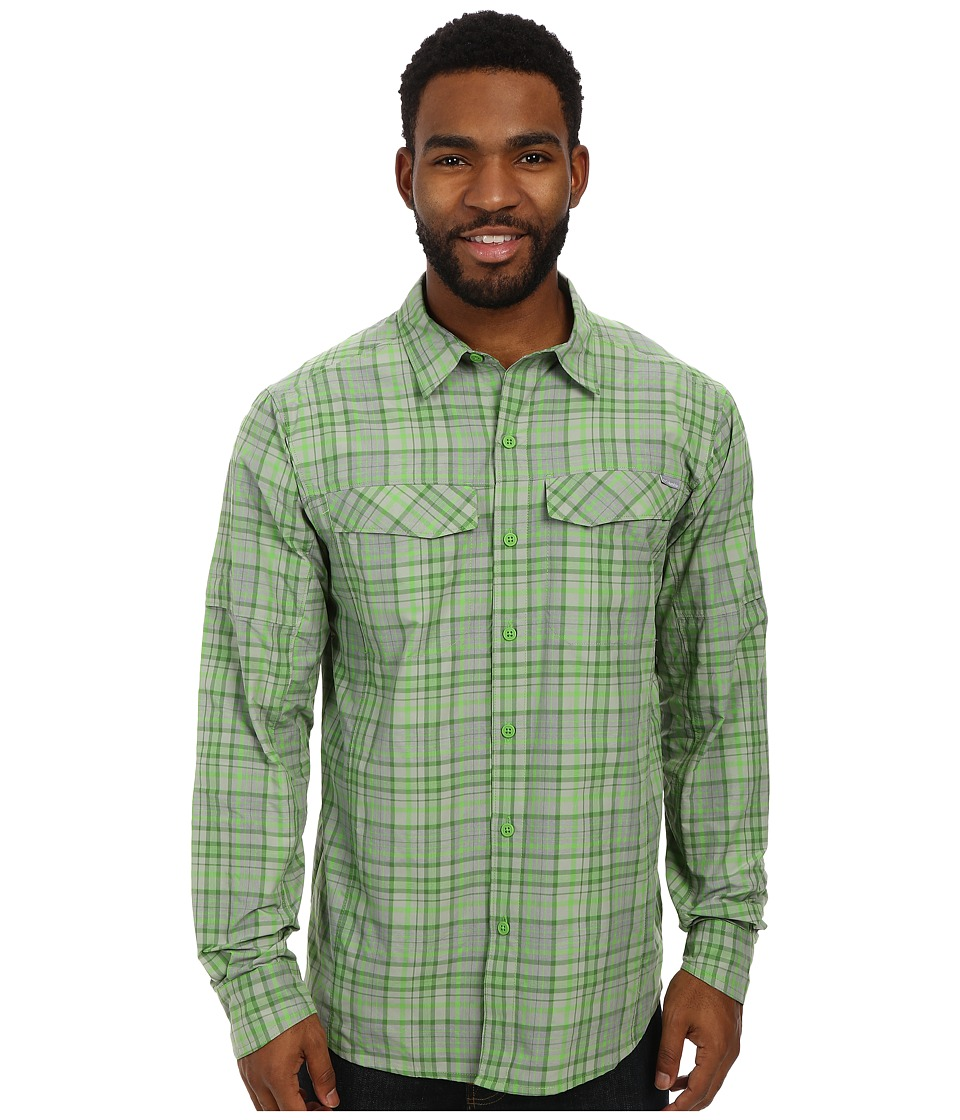 Columbia - Silver Ridge Plaid L/S (Cyber Green Heathered Plaid) Men's Long Sleeve Button Up