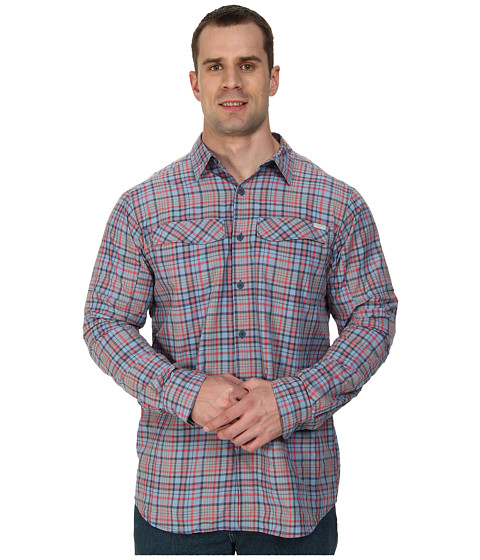 Columbia - Big Tall Silver Ridge Plaid L/S (Whale Heathered Plaid) Men's Long Sleeve Button Up