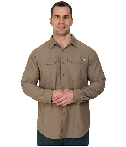 Columbia - Big Tall Silver Ridge L/S Shirt (Wet Sand) Men's Long Sleeve Button Up