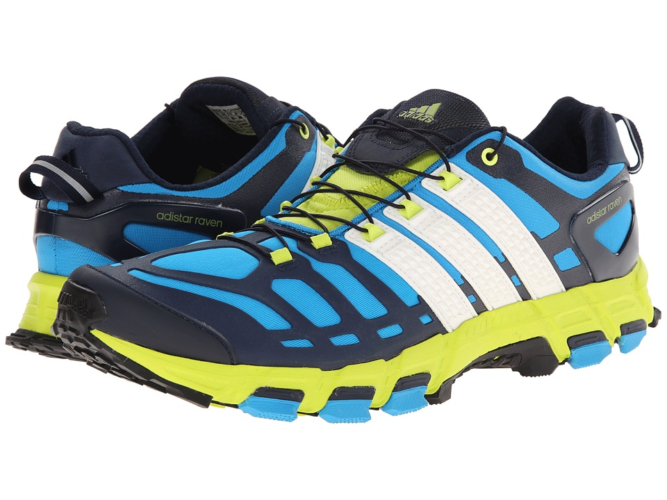 adidas Outdoor - Adistar Raven 3 M (Solar Blue/White/Semi Solar Yellow) Men's Shoes