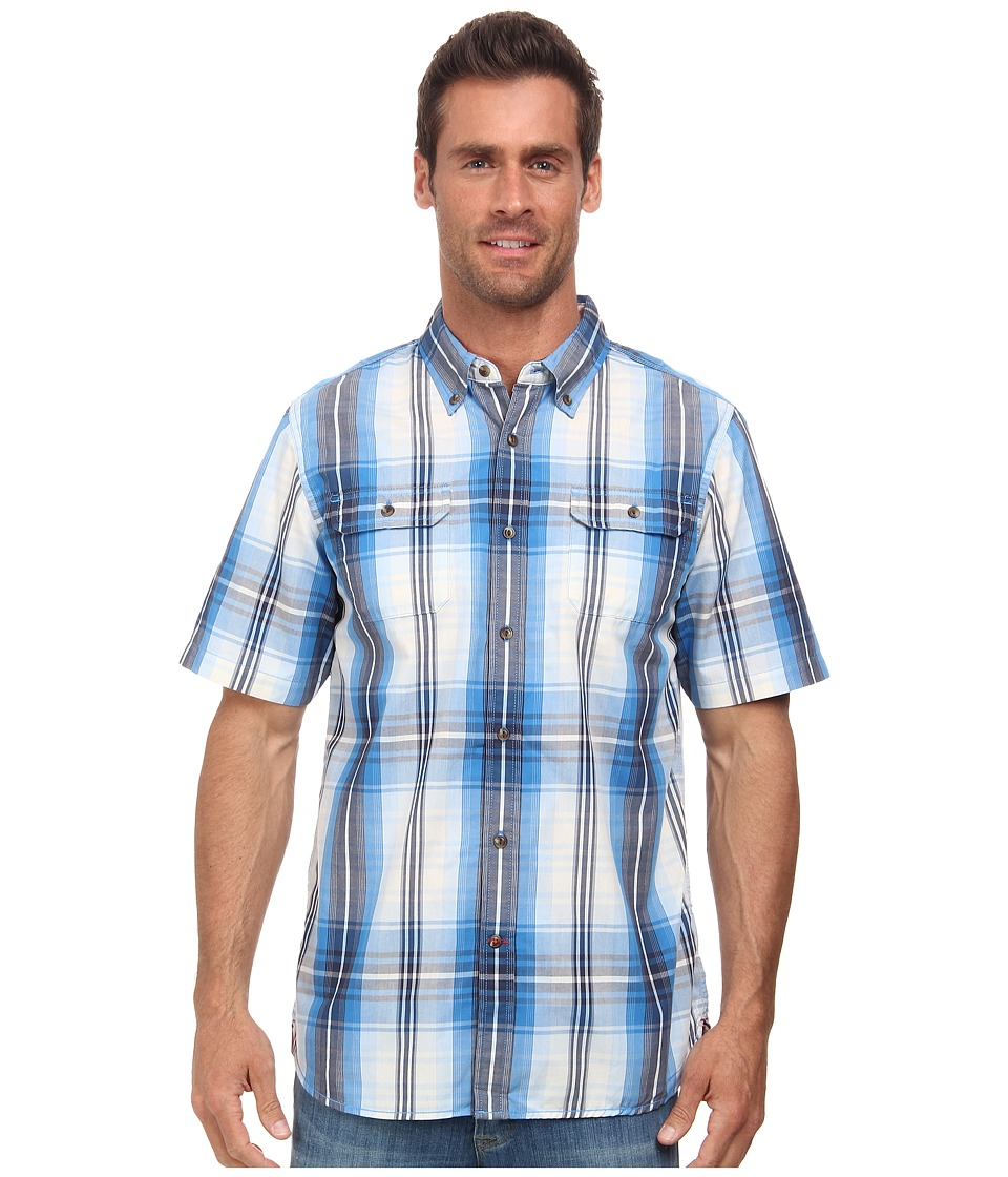 The North Face - Short Sleeve Delridge Shirt (Clear Lake Blue) Men's Short Sleeve Button Up