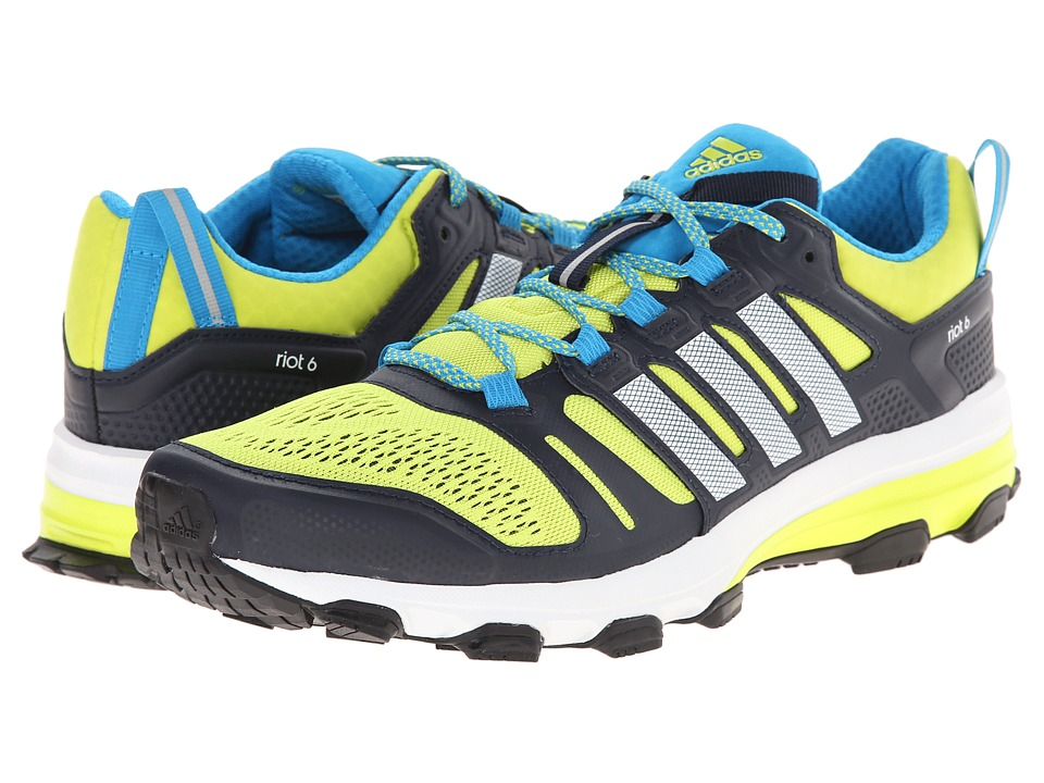 adidas Outdoor - Supernova Riot 6 (Semi Solar Yellow/White/Col. Navy) Men's Cross Training Shoes