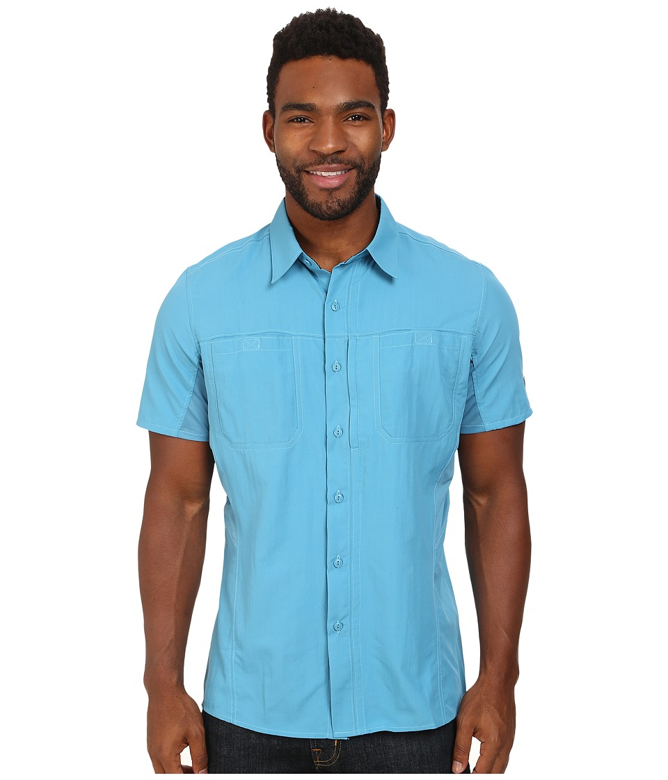 KUHL - Wunderer SS (Ocean Blue) Men's Short Sleeve Button Up