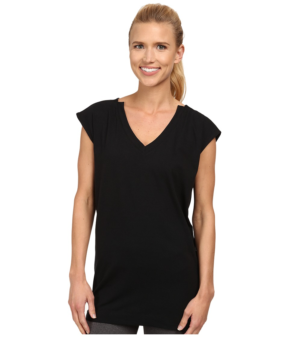 FIG Clothing - Val Tunic (Black) Women's Short Sleeve Pullover