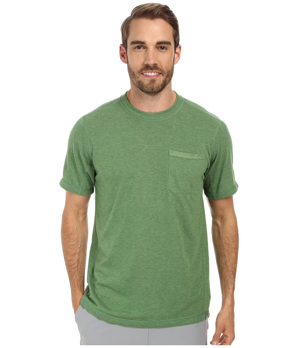 The North Face - Short Sleeve Meadowlake FlashDry Crew (Sullivan Green Heather) Men's Short Sleeve Pullover