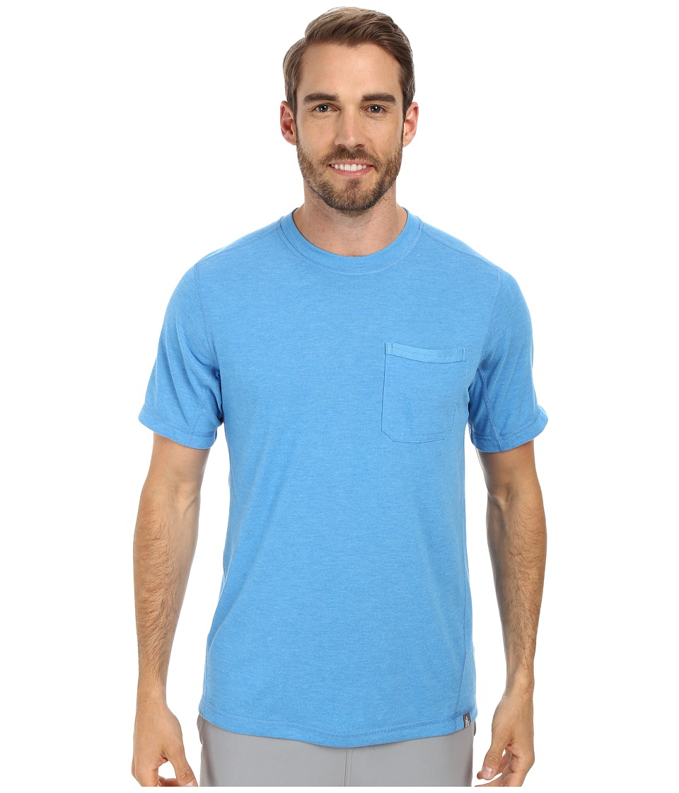 The North Face - Short Sleeve Meadowlake FlashDry Crew (Clear Lake Blue Heather) Men's Short Sleeve Pullover