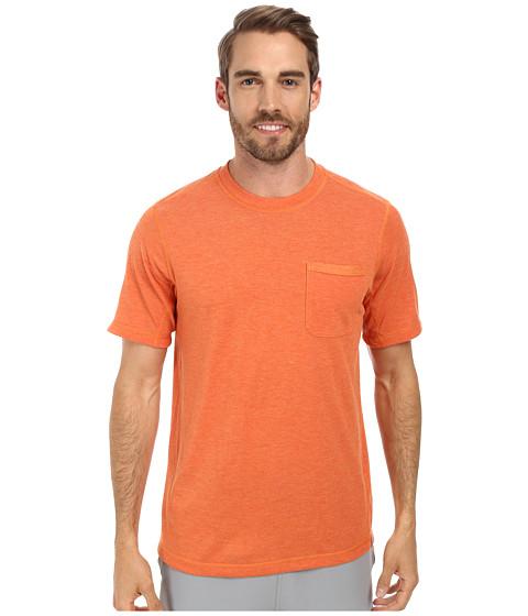 The North Face - Short Sleeve Meadowlake FlashDry Crew (Burnished Orange Heather) Men
