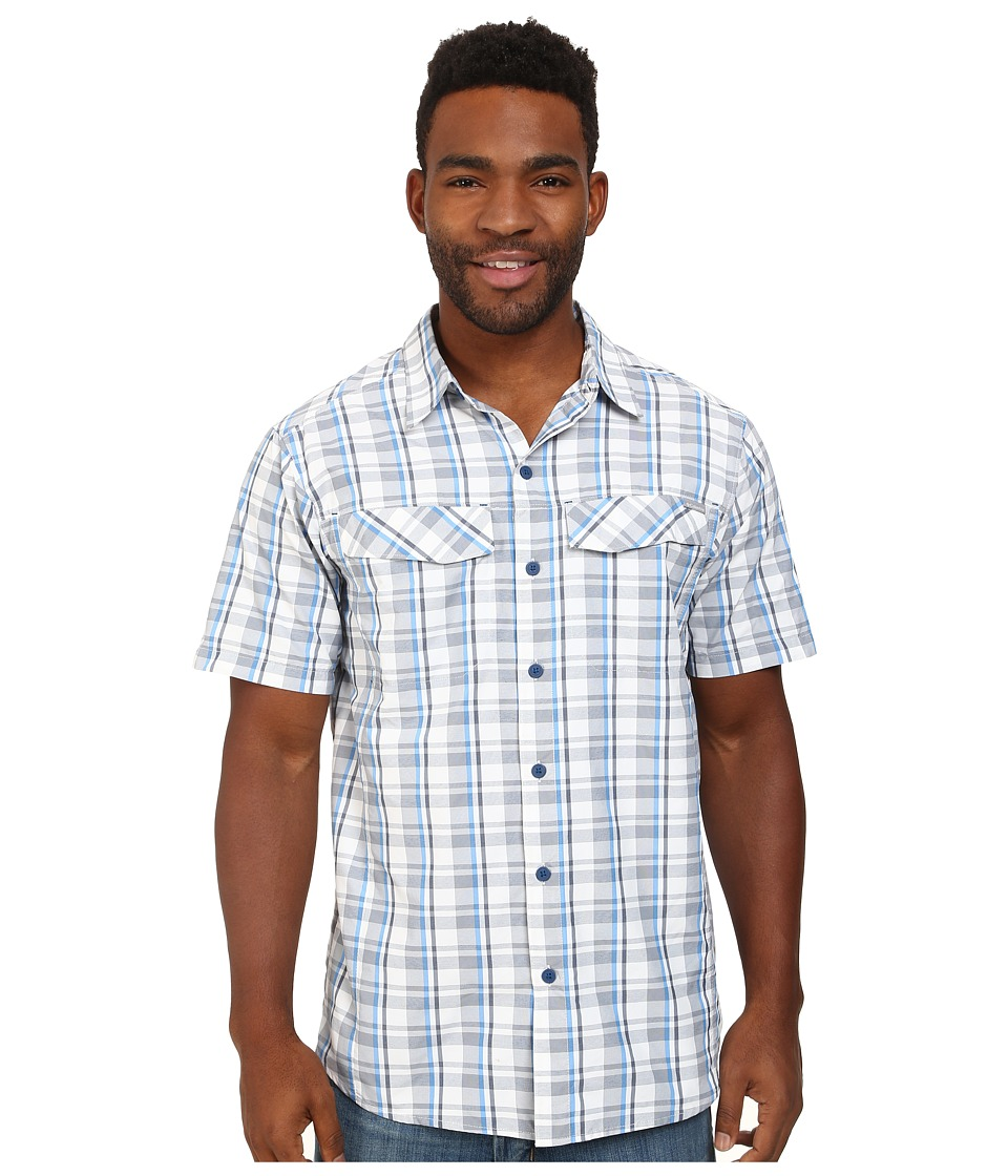 Columbia - Silver Ridge Multi Plaid S/S Shirt (White Plain Weave) Men's Short Sleeve Button Up