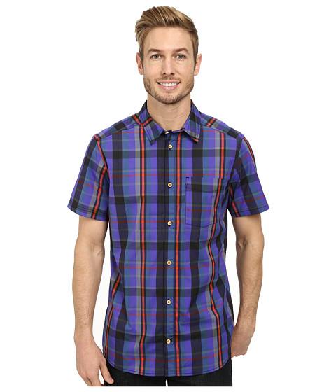 adidas Outdoor - Edo Check Short Sleeve Shirt (Bold Orange) Men
