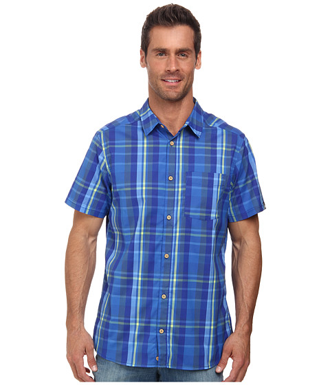 adidas Outdoor - Edo Check Short Sleeve Shirt (Semi Solar Yellow) Men's T Shirt