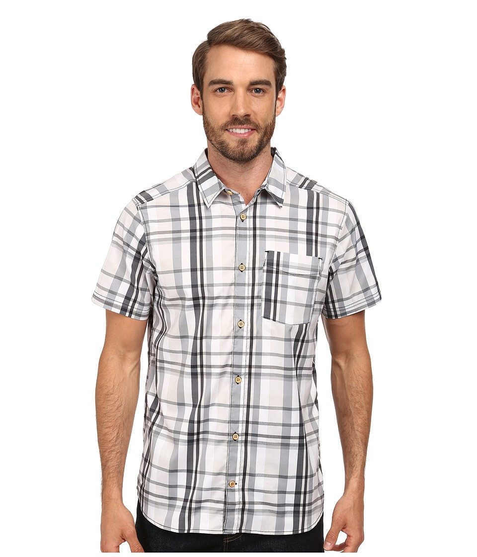 adidas Outdoor - Edo Check Short Sleeve Shirt (Black) Men's T Shirt