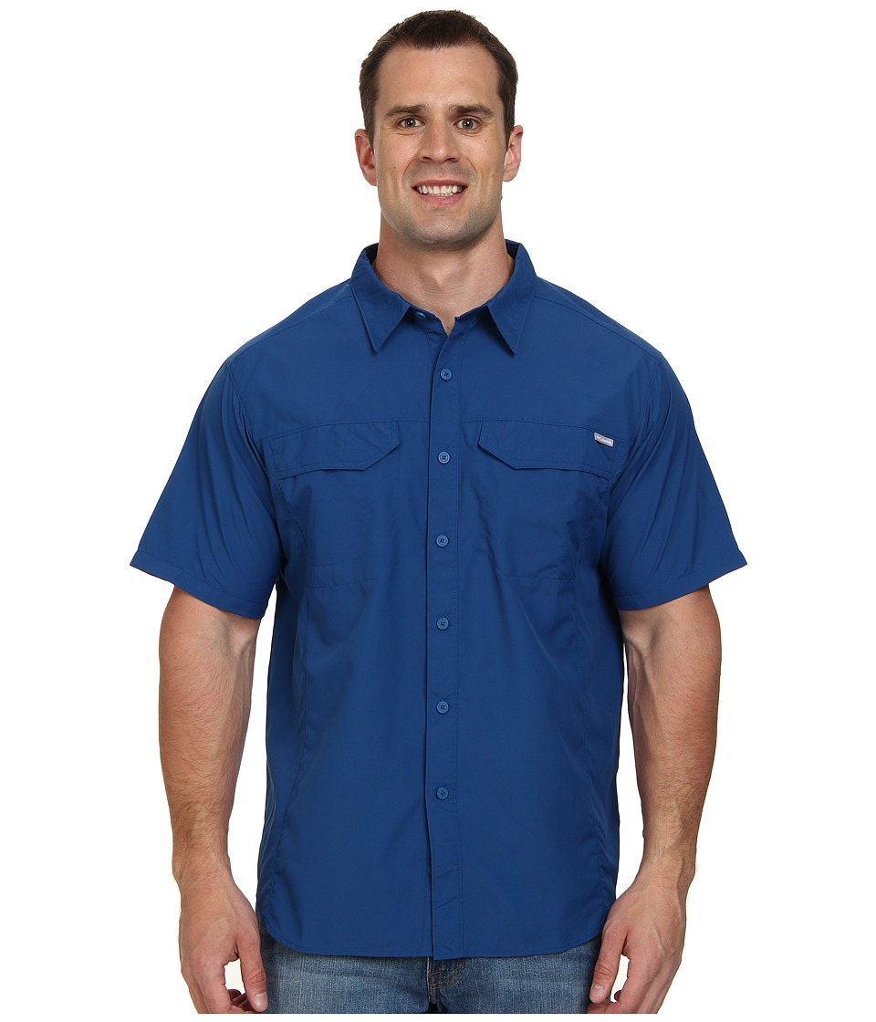 Columbia - Silver Ridge S/S Shirt - Extended (Marine Blue) Men's Short Sleeve Button Up