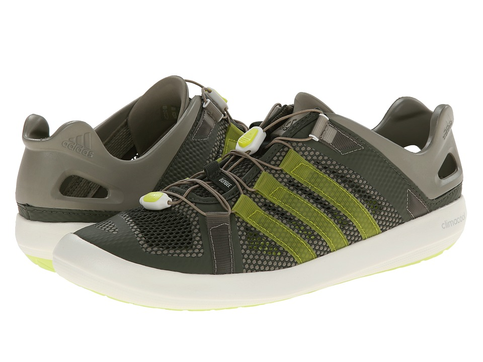 adidas Outdoor - Climacool Boat Breeze (Base Green/Semi Solar Yellow/Chalk White) Men