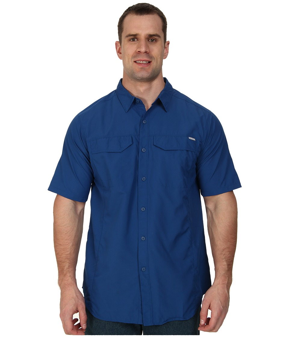Columbia - Silver Ridge S/S Shirt - Tall (Marine Blue) Men's Short Sleeve Button Up