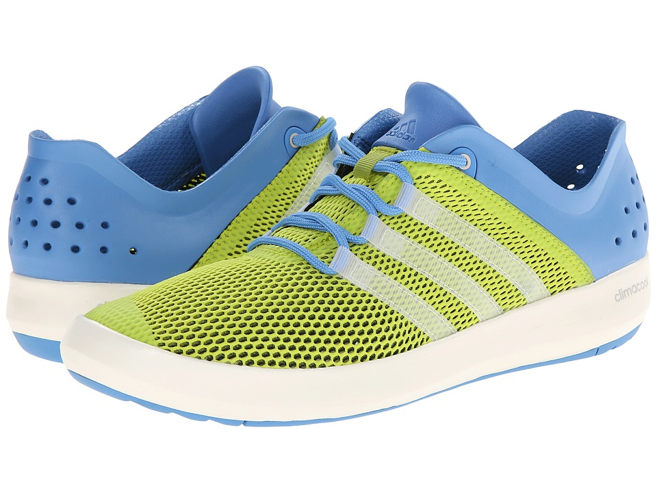 adidas Outdoor - CLIMACOOL Boat Pure (Semi Solar Yellow/Chalk White/Lucky Blue) Men's Shoes