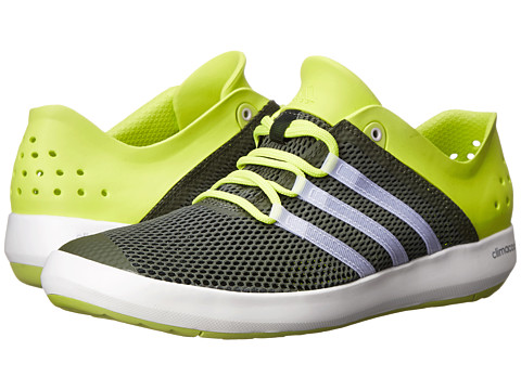 adidas Outdoor - CLIMACOOL Boat Pure (Base Green/Chalk White/Semi Solar Yellow) Men's Shoes